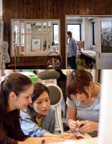 アクセサリーショップの一角で本格ワークショップ講師は金細工作家ci.cafu(チ・カフー)の喜舎場智子さん
