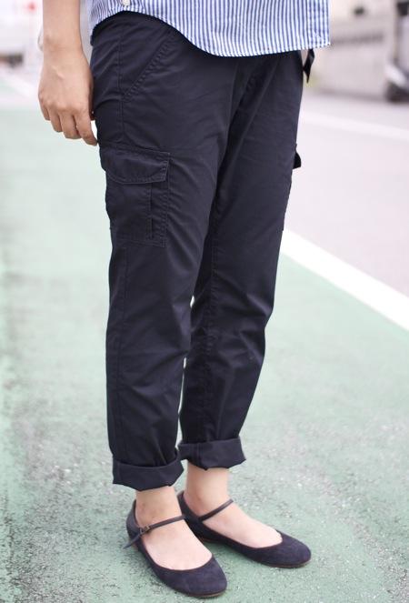 マタニティ用パンツは無印良品で。