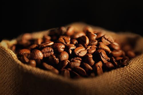 sacchetto con chicchi di caff